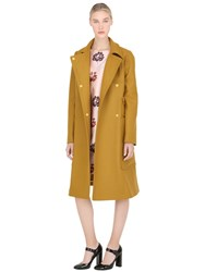Rochas Double Breasted Wool Cloth Coat