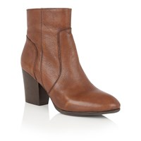 Lotus Verbena Leather Ankle Boots Tan