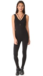 Free People Movement Open Heart Catsuit Black