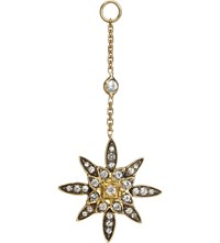 Annoushka Frost 14Ct Yellow Gold And Sapphire Earring Drop