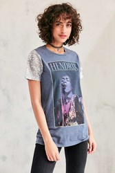 Urban Outfitters Jimmy Hendrix Sequin Tee Washed Black