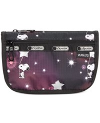 Le Sport Sac Lesportsac Peanuts Collection Travel Cosmetic Bag Snoopy In The Stars