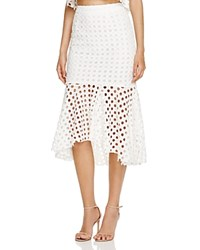 Aqua Circle Lace Skirt White