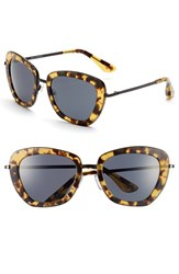 Women's Isaac Mizrahi New York 53Mm Geometric Sunglasses Yellow Tortoise
