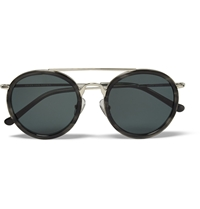 Dries Van Noten Acetate And Metal Aviator Sunglasses Gray