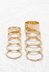 Forever 21 Mixed Midi Ring Set Gold