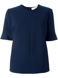 Victoria Victoria Beckham Shortsleeved Top Blue