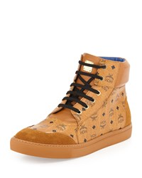 Classic Street High Top Sneaker Mcm Red