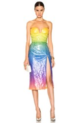 Cushnie Et Ochs Sequin Samantha Dress In Abstract Ombre And Tie Dye