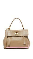 Wgaca Ysl Taupe Muse Bag Previously Owned