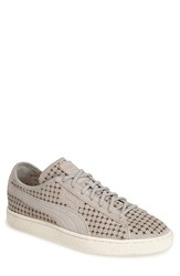 Puma 'Suede Courtside' Perforated Sneaker Men Grey Violet
