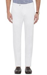 Isaia Men's Twill Trousers White