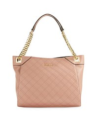 Calvin Klein Quilted Leather Tote Deep Blush
