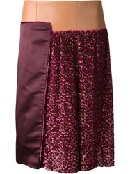 Sophie Theallet Wrap Style Skirt Pink And Purple