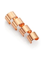 Maison Martin Margiela Knuckle Duster Four Band Ring Set Rose Goldtone Rose Gold