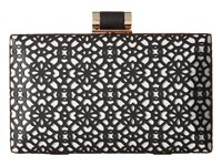 Ivanka Trump Ivanka Domed Minaudiere Black Clutch Handbags