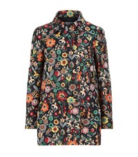 Red Valentino Floral Jacquard Peplum Co Ord Jacket Female Black
