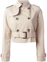 Each X Other Trench Coat Nude And Neutrals