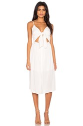 Reverse Castaway Dress White