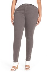 Halogen Overdyed Stretch Skinny Jeans Plus Size Grey Ebony