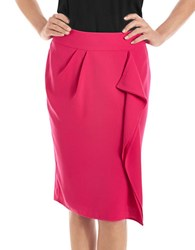 424 Fifth Drape Front Pencil Skirt Pink Paradise