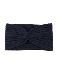 Hat Attack Knotted Ribbed Headband Navy