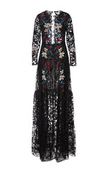 Sachin Babi And Dupont Embroidered Lace Gown Black