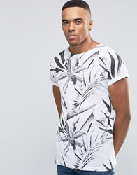 New Look T Shirt In White With Floral Print White