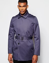 Reiss Trench Coat Airforceblue