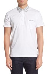 Peter Werth 'Begin' Trim Fit Polo White