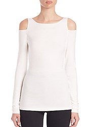 Donna Karan Long Sleeve Cold Shoulder Top Lacquer