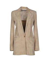 Superfine Suits And Jackets Blazers Women Beige