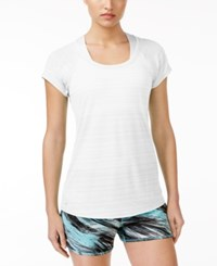 Ideology Lightweight Striped T Shirt Only At Macy's Bright White