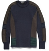 Kolor Knitted Wool Crew Neck Sweater Mr Porter