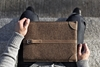 Cocones Wool Felt Leather Sleeve Macbook Air Pro 11 13 15 Retina Deep Caramel Brown