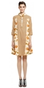 SUNO Geometric Panel Collared Dress