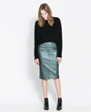 Coated Skirt Skirts Woman Zara United Kingdom