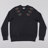 YMC Embroidered Flower Sweat Navy
