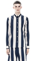 ACNE Isherwood Wide Navy Stripe Shop Ready to Wear 2c Accessories 2c Shoes and Denim for Men and Women