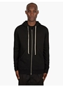Men's Black Cotton Hooded Sweatshirt