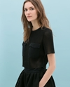 Cropped Studio Top Shirts Woman Zara United Kingdom