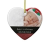 Baby's 1St Christmas Red Swirl Photo Christmas ... Christmas Decora
