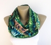 Easter Gift Green Abstract Print Scarf Spring By Senoaccessory