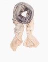 Silk Habotai Wrap Scarf Black Tea