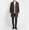 Hentsch Man Prince Of Wales Check Wool Overcoat Mr Porter