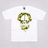Flatspot Stussy Flower Skull T Shirt White