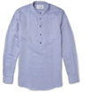 Maison Martin Margiela Collarless Linen Blend Shirt Mr Porter