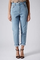 Moto Baby Blue Wash Mom Jeans Jeans Clothing Topshop
