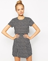 Fashion Union Fashion Union Layered Dress In Check Print At Asos