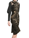 Etro Silk Taffeta And Velvet Dress Luisaviaroma Luxury Shopping Worldwide Shipping Florence